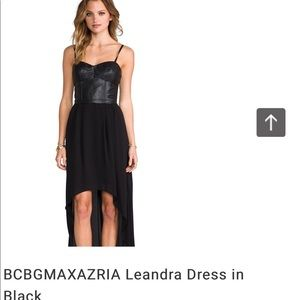 Bcbgmaxazria black leather dress/XS/